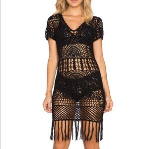 Cleobella crochet mini dress sz S